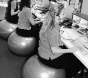 swiss ball chair-